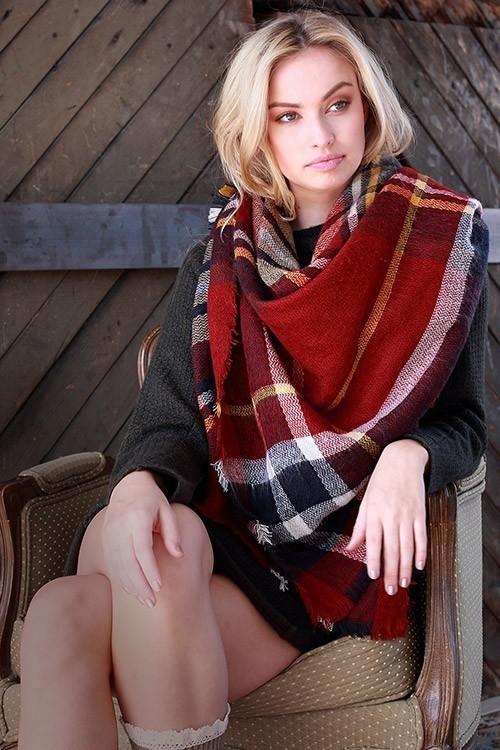 Fireside blanket scarf