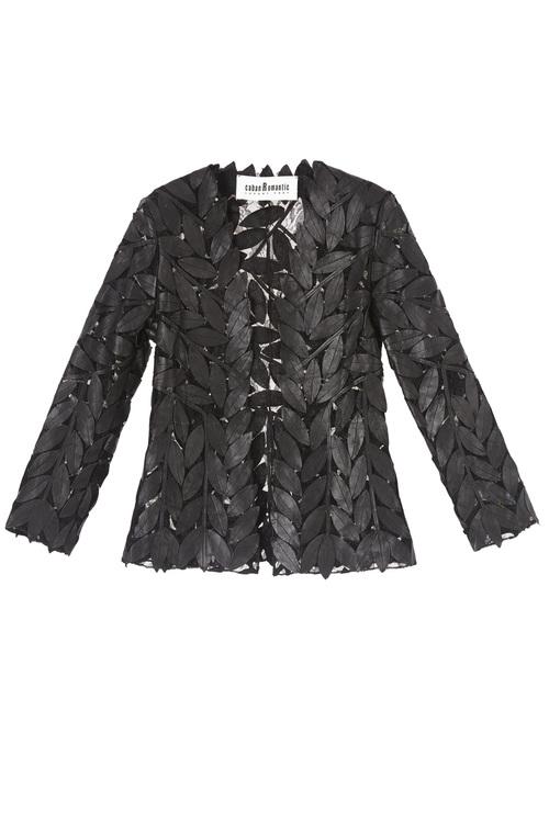 Leaf Short Leather Jacket