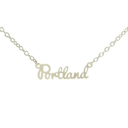 Portland City Necklace Silver