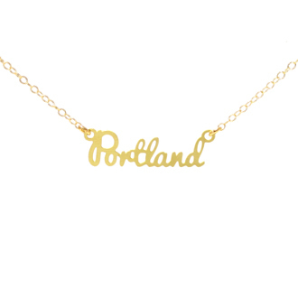 Portland City Necklace Gold