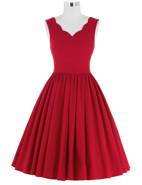 Corine dress Red&Black