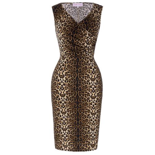 Scarlett dress in leopard *Online Exclusive*