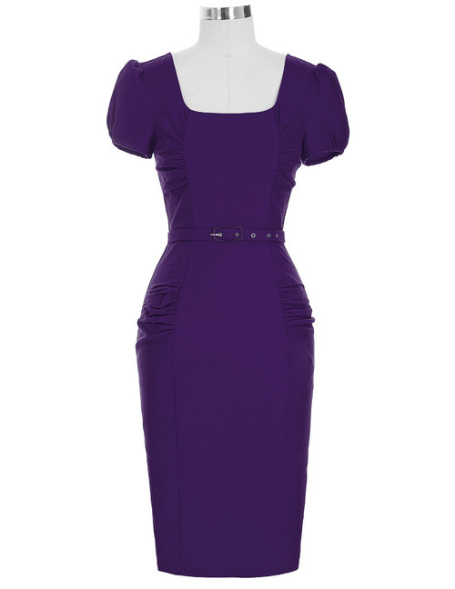 Olivia Dress in Deep Purple *Online Exclusive*