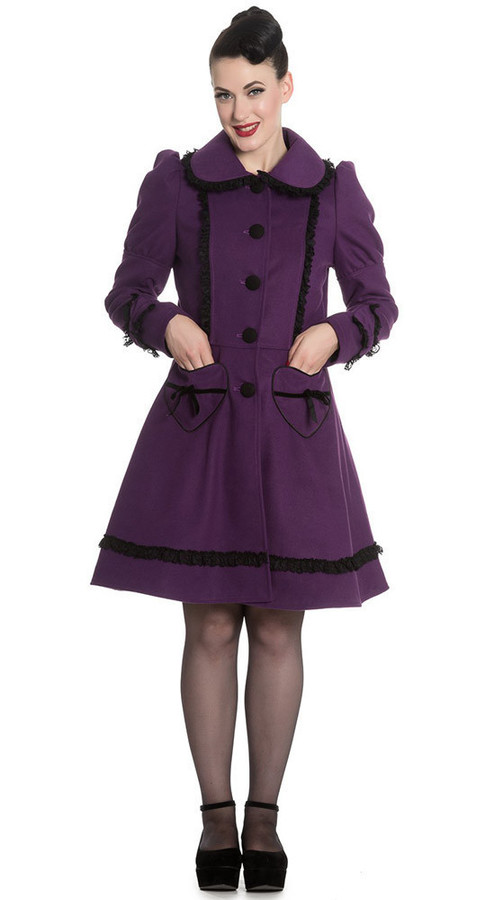 Courtney Coat in Purple (Plus)