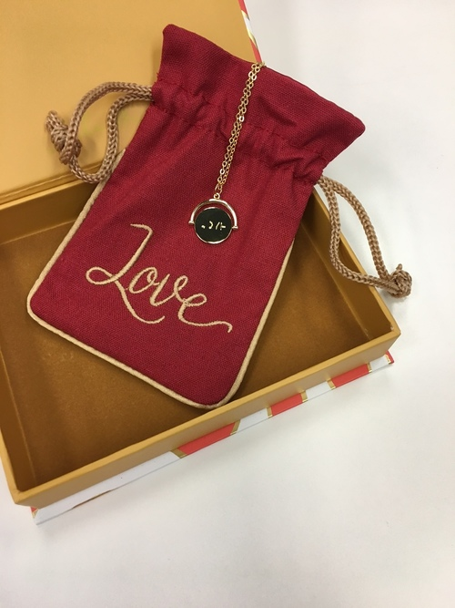 Love 14k Gold Plated Necklace