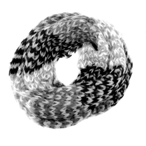 Colorblock Scarf Black Grey