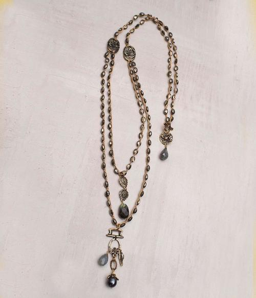 Anubis Necklace with Pyrite