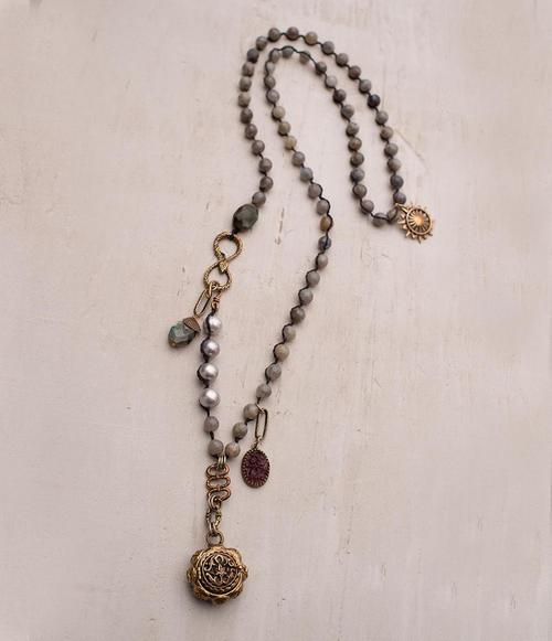 Tupelo Necklace with Labradorite
