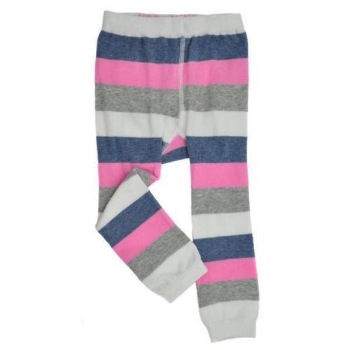 Pink/Gray Footless Tights