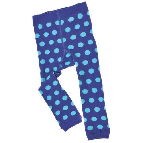 Navy/Blue Polka Dot Footless Tights