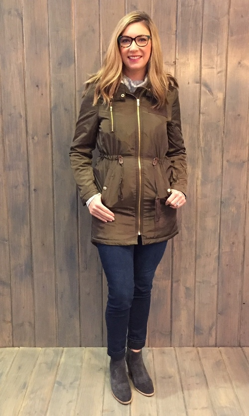 Sherpa Hooded Olive Coat