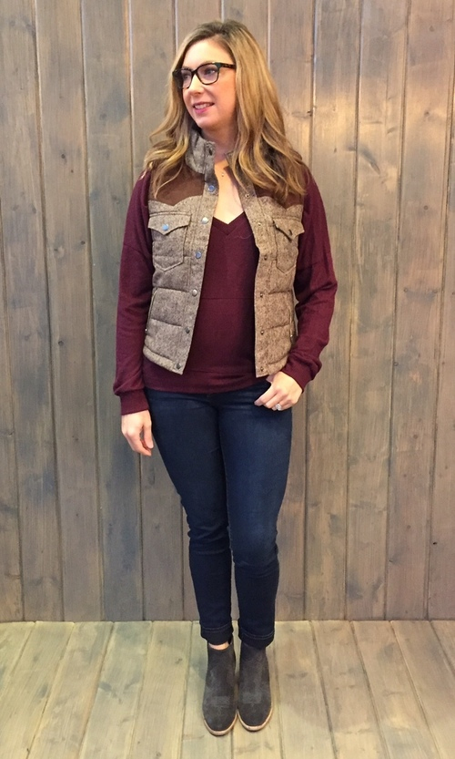 Chocolate Epaulet Detail Vest