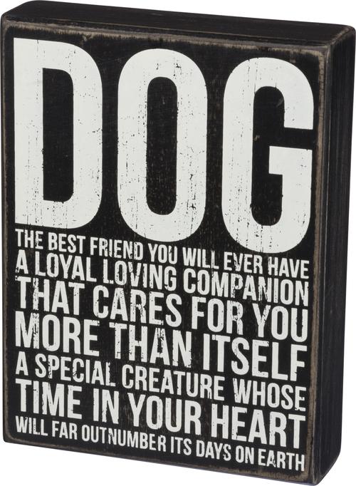Dog Best Friend Box Sign