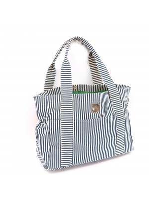 Navy Stripe Carry All Diaper Bag
