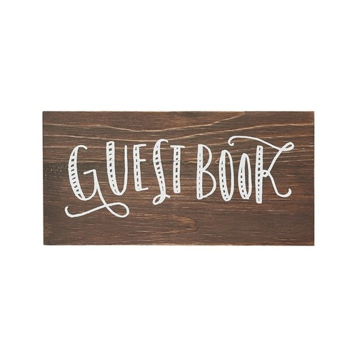 Guest Book Wood Sign