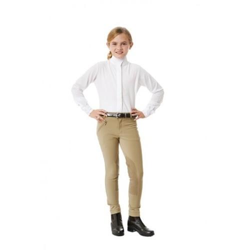 OV CHILD L/S Tech Show Shirt White/White 12
