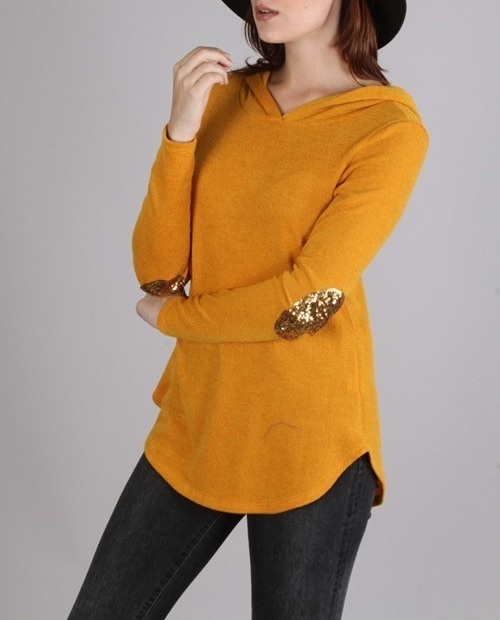 FINAL SALE Aubrey hoodie (Goldenrod)