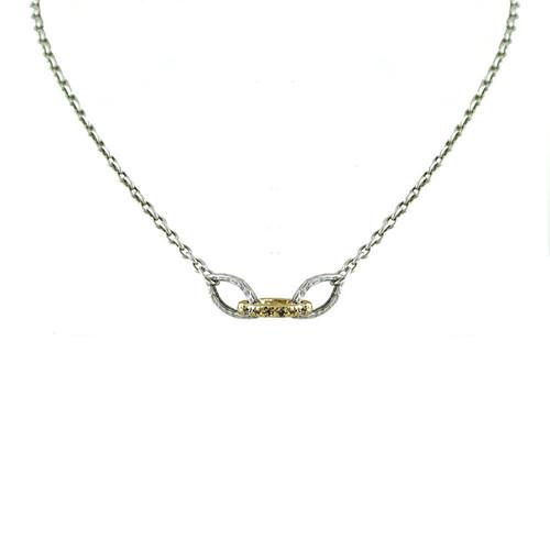 Vintage Silver Rinku 3 Link Necklace