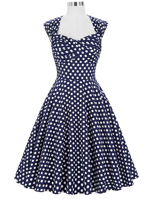 Donna Dress in Blue Polka