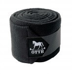 OTTB Roses Polo Wraps 4-Pk Black HRSE