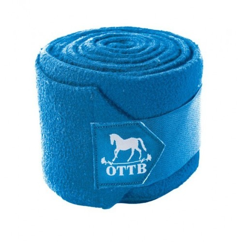 OTTB Roses Polo Wraps 4-Pk Brilliant Blue HRSE