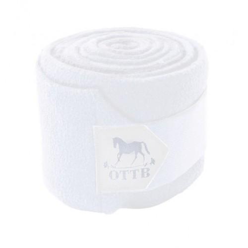 OTTB Roses Polo Wraps 4-Pk White HRSE