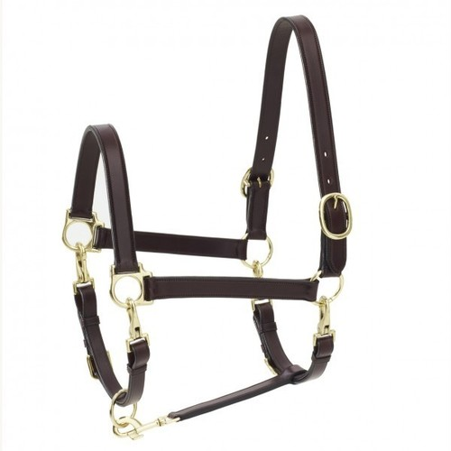 OV 4-Way Leather Grooming Halter Dark Brown HORSE