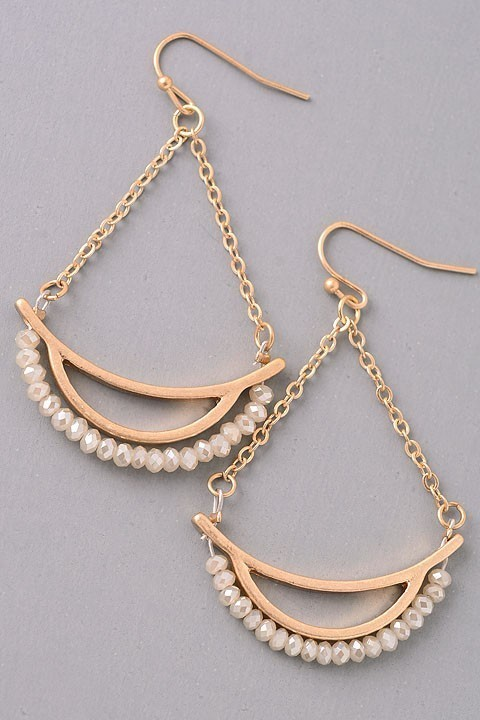 Mira dangle earrings (Ivory)