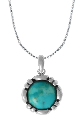 Turquoise Round Necklace