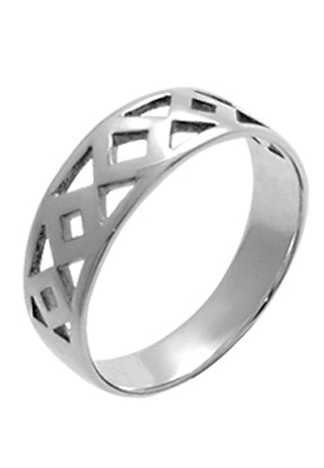 Diamond Cutout Sterling Ring