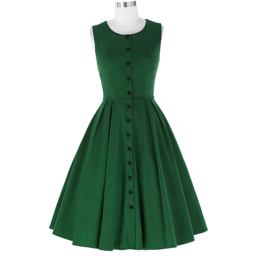 Faye Dress in green