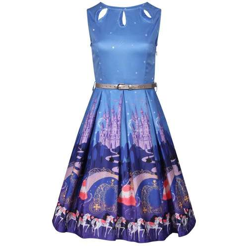 'Lily' Fairytale Princess Print Swing Dress