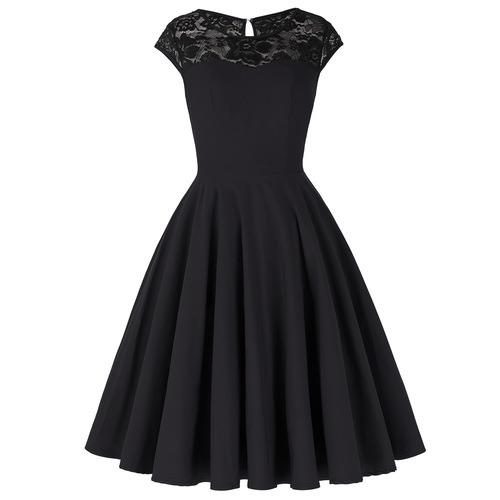 Glamour Goth Dress in Black *Online Exclusive*
