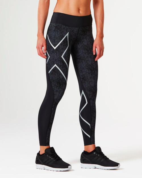 Women's 2XU Pattern Mid-Rise Compression Tight