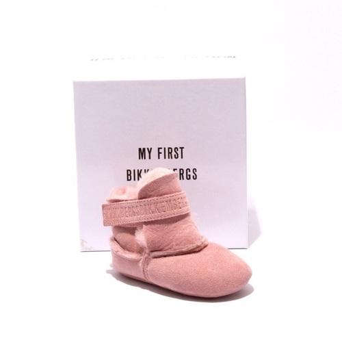 Pink Suede / Sheepskin Fur Baby Girl Booties