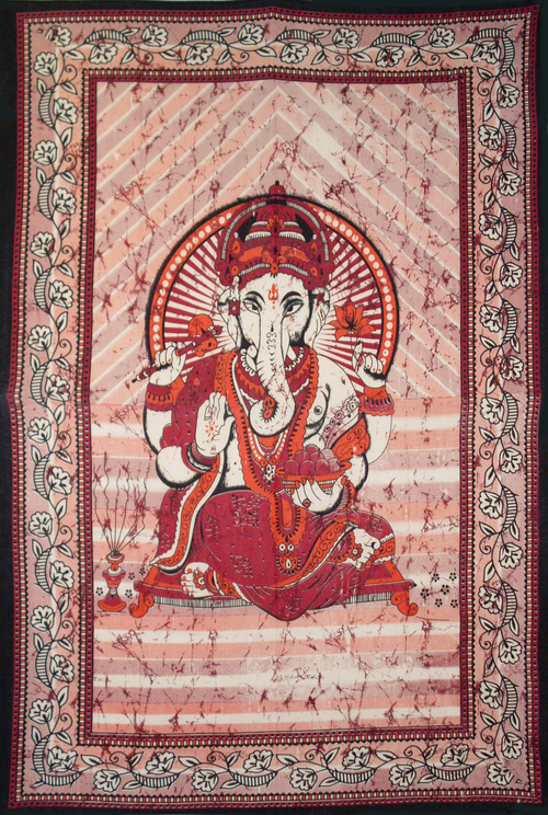 Printed Ganesh Tapestry Single