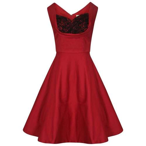 'Ophelia' Dark Red Swing Dress