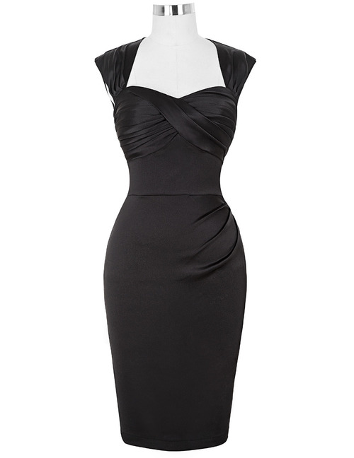 Lara dress in Black Satin *Online Exclusive*