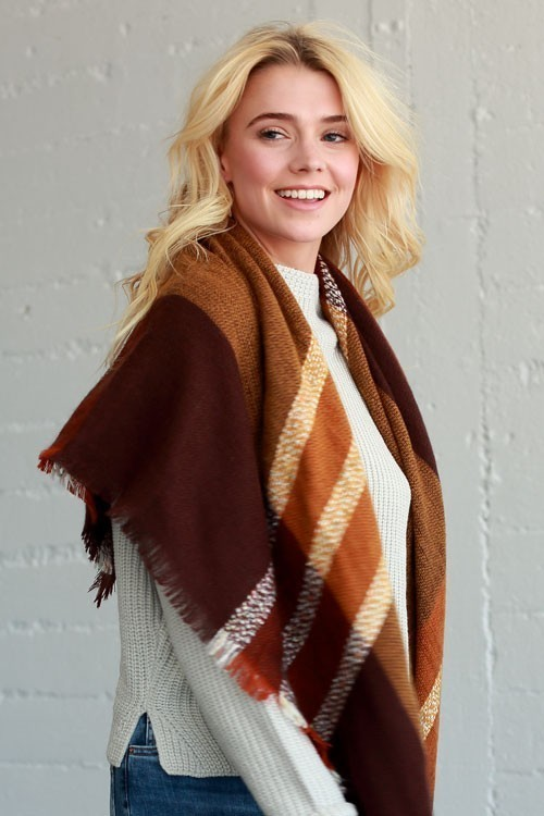 Hot Cocoa blanket scarf