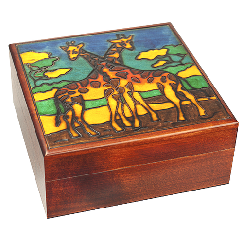 Giraffes Wooden Box