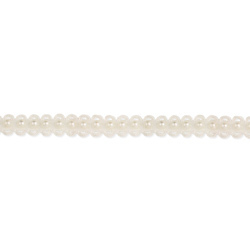 White Pearl & Thread Choker Necklace