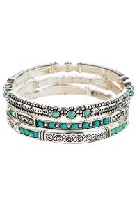 Turquoise Engraved Bracelet