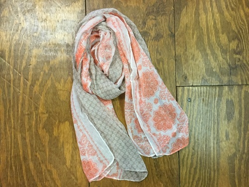 Beige Moroccan Tapestry Print Scarf