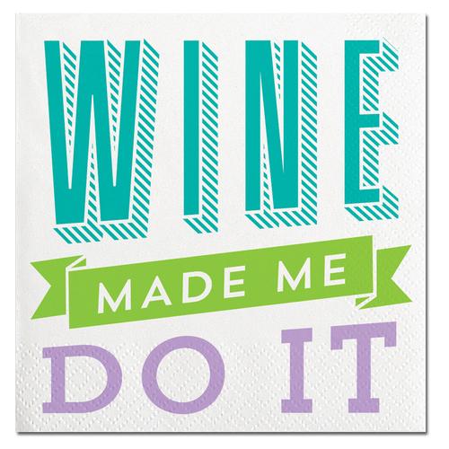 Wine Made Me Napkins