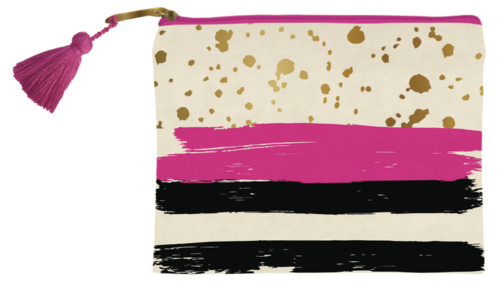 Gold Splatter Zipper Bag