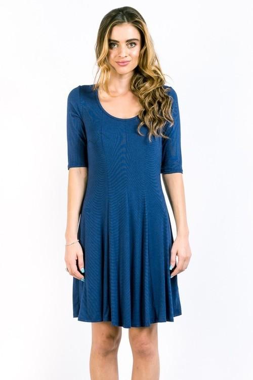 Emmaline dress (Navy)