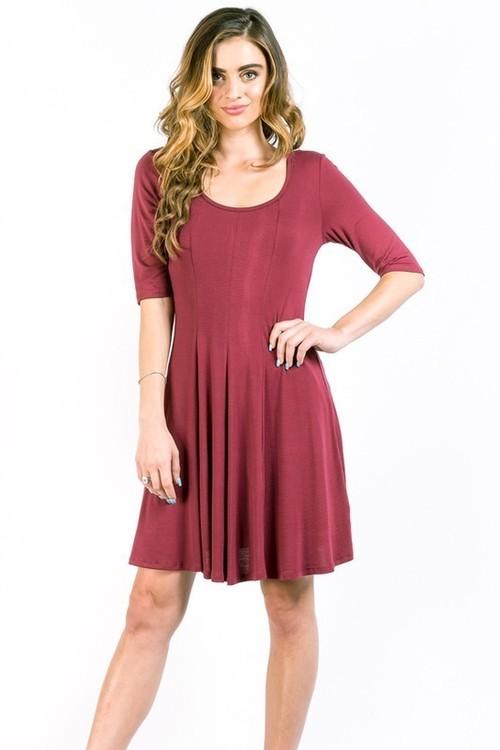 Emmaline dress (Wine)