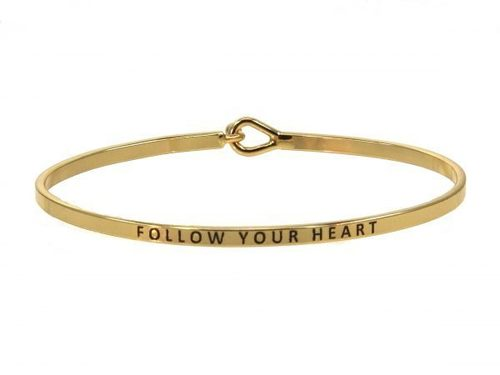 Follow Your Heart Gold Bracelet