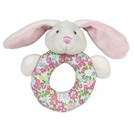 Beth the Bunny Ring Rattle