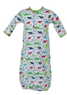 Dinosaur Print Sack Gown